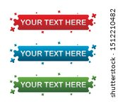 banner set  text box  title box ... | Shutterstock .eps vector #1512210482