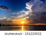Sunset on the West lake, Hanoi, Vietnam