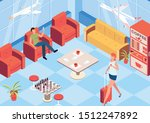 vip airport waiting room... | Shutterstock .eps vector #1512247892