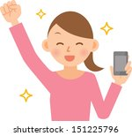woman | Shutterstock .eps vector #151225796