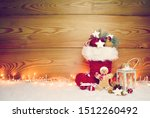Stuffed Santa Claus Boot With...