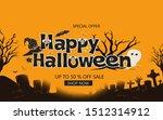 happy halloween sale banners or ... | Shutterstock . vector #1512314912