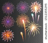 festive fireworks collection.... | Shutterstock .eps vector #1512355295