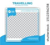 traveling social media post ...   Shutterstock .eps vector #1512356258