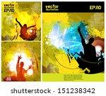 discotheque illustration set.... | Shutterstock .eps vector #151238342