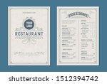 fresh retro template for ... | Shutterstock .eps vector #1512394742