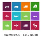 cars and transport icons on...