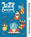 jazz concert music poster... | Shutterstock .eps vector #1512402908
