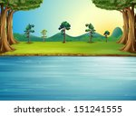 Illustration Of A Forest With A ...