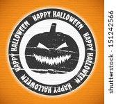 grunge halloween label with... | Shutterstock .eps vector #151242566
