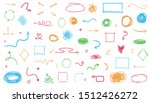 colored signs isolated on white.... | Shutterstock .eps vector #1512426272
