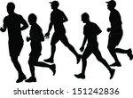 marathon collection   vector | Shutterstock .eps vector #151242836