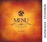 restaurant menu design | Shutterstock .eps vector #151243628