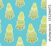 seamless winter pattern | Shutterstock .eps vector #151246472