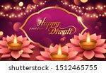 elegant happy diwali with lotus ... | Shutterstock .eps vector #1512465755