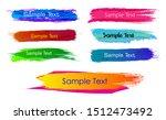 set of abstract brush... | Shutterstock .eps vector #1512473492