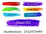 set of abstract brush... | Shutterstock .eps vector #1512473495