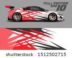 car wrap decal graphics.... | Shutterstock .eps vector #1512502715