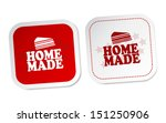 home made stickers | Shutterstock .eps vector #151250906