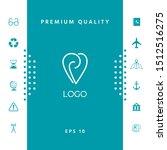 logo   a heart with spirals   a ... | Shutterstock .eps vector #1512516275