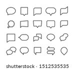speech bubbles line icons. web...   Shutterstock . vector #1512535535