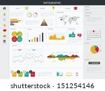 infographics elements. vector... | Shutterstock .eps vector #151254146