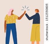 women students get a success  ... | Shutterstock .eps vector #1512550805