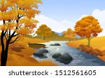 autumn landscape in countryside ...   Shutterstock .eps vector #1512561605