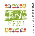 fresh menu banner template with ... | Shutterstock .eps vector #1512565742