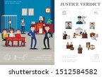 flat law system concept with... | Shutterstock .eps vector #1512584582
