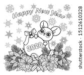 winter holiday coloring page... | Shutterstock .eps vector #1512610328