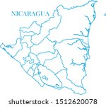 nicaragua map blue color vector | Shutterstock .eps vector #1512620078