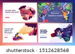 set of web design templates of... | Shutterstock .eps vector #1512628568