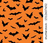 seamless pattern with bats on... | Shutterstock .eps vector #1512637652