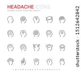 collection of stress  headache... | Shutterstock .eps vector #1512642842