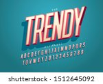 vector of stylized modern font... | Shutterstock .eps vector #1512645092