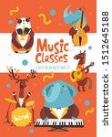 vector music classes... | Shutterstock .eps vector #1512645188
