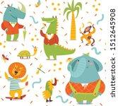 kids style seamless pattern... | Shutterstock .eps vector #1512645908