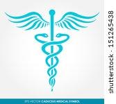 caduceus   medical vector icon | Shutterstock .eps vector #151265438