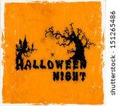 happy halloween poster  banner... | Shutterstock .eps vector #151265486