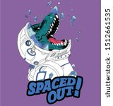 space dinosaur vector graphic t ... | Shutterstock .eps vector #1512661535