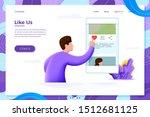 vector illustration like us... | Shutterstock .eps vector #1512681125
