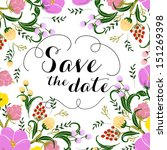 invitation or wedding card with ... | Shutterstock .eps vector #151269398