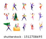 set of cute happy tiny people... | Shutterstock .eps vector #1512708695