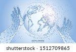 light blue abstract background. ...   Shutterstock .eps vector #1512709865