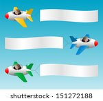 three jets with banners ... | Shutterstock .eps vector #151272188
