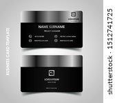 modern business card design... | Shutterstock .eps vector #1512741725