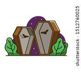 dracula coffin illustration ...