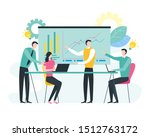 business meeting and... | Shutterstock .eps vector #1512763172
