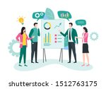 business meeting and project... | Shutterstock .eps vector #1512763175